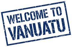 Welcome to Vanuatu stamp Stock Illustration