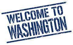 Welcome to Washington stamp Stock Illustration
