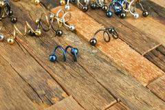 Jewelry for piercing Stock Photos
