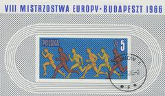 POLAND - CIRCA 1966: stamp printed in Poland, shows long distance race, circa Kuvituskuvat