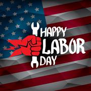 Usa labor day vector background Stock Illustration