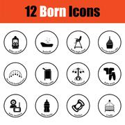 Set of born icons Stock Illustration