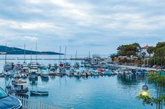 NEOS MARMARAS, GREECE - JUNE 13, 2009: Small yachts in marina Stock Photos