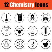 Chemistry icon set Stock Illustration