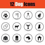 Set of dog breeding icons Stock Illustration