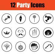 Set of celebration icons Stock Illustration