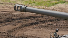 M110 Military Tank driving at full speed Stock Footage