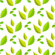 Seamless of light and dark green acute leaves Stock Illustration