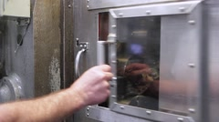 Open Sliding Door Stock Footage