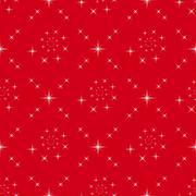 Seamless of symmetric stars on red background Stock Illustration