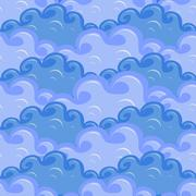 Seamless of clouds in different colors of blue Stock Illustration