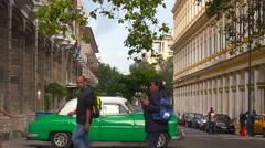 Buildings are slowly being restored and renovated in the old city of Havana, Stock Footage