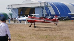 Demonstration at airshow Stock Footage