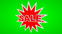 Sale, label on green screen in motion. For editing. 4K Stock Footage