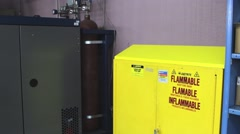 Industrial Flammable Cabinet Stock Footage