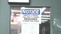 NOTICE sign Industrial Stock Footage