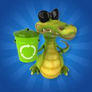 Crocodile Stock Illustration