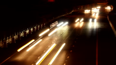 Beltway traffic time-lapse night Stock Footage