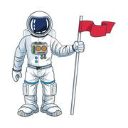 Astronaut space cartoon design Stock Illustration