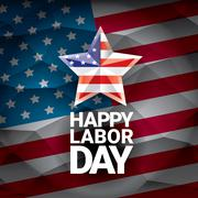 USA Labor day vector background or poster Stock Illustration