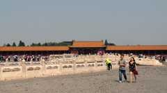 People visit Gugun palace in Beijing, China. Stock Footage