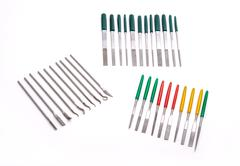 Needle Mini Diamond File Sharpening Set Stock Photos