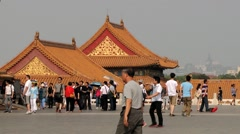 Tourists visit Gugun palace in Beijing, China. Stock Footage