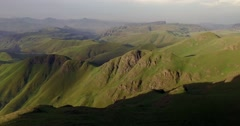Majestic 4K Drone Aerial Of The Drakensberg Mountain Range. Stock Footage