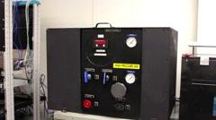 Big black air pressure box Stock Footage