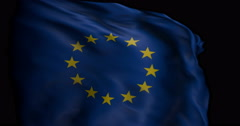 EU Flag, Slow Motion, silk Stock Footage