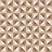 Geometric pattern with brown and white diamonds Stock Illustration