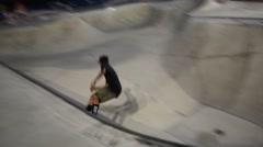 Skateboarders Performing Tricks Stock Footage
