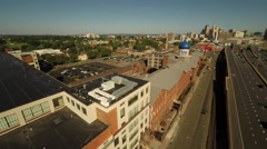 Hartford CT Aerial, Colt Armory Stock Footage