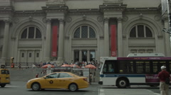 The Met NYC Metropolitan Museum of Art, exterior, Manhattan, New York Stock Footage