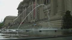 The Met fountains, Metropolitan Museum of Art, Manhattan, New York City Stock Footage