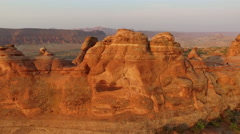Sunrise at Delicate Arch, Arches National Park, Utah Stock Footage