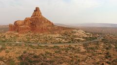 Arches National Park aerial view Stock Footage