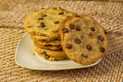 Vegan Chocolate Chips Cookies Stock Photos