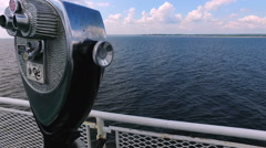 Peering Over Side of Boat Stock Footage