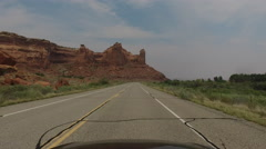 POV driving down scenic road in South West USA Stock Footage