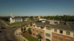 Hartford CT Aerial, East Hartford Stock Footage