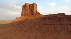 Aerial shot of Monument Valley Stock Footage
