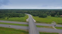 A big skyway road on an aerial shot Stock Footage