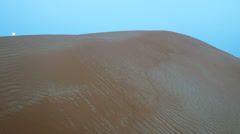 Desert Landscape With Sand Stock Footage