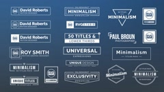 50 Titles & Lower Thirds Stock After Effects