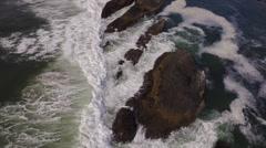 Aerial shot of Oregon coast, Seal Rock Stock Footage