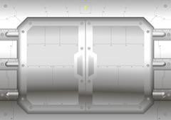 Sliding metal gate Stock Illustration