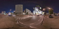 360Vr Video. Sport Square in Kiev. Sports Palace. Stock Footage