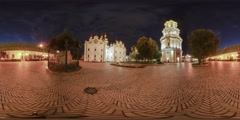 360Vr Video. Evening in the Kyiv-Pechersk Lavra Stock Footage