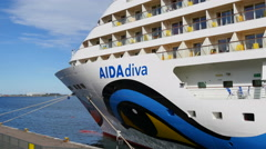 Aida Diva are visiting Copenhagen Stock Footage